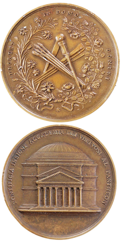 Pontifical Academy of Fine Arts Medal ca.1860 Photo