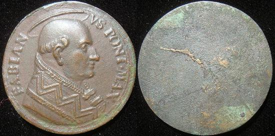 Pope St. Fabian (236-50) Uniface Medal Photo