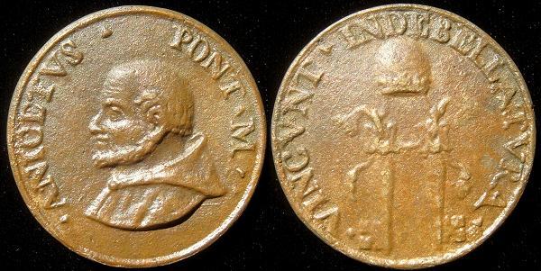 St. Anicetus (155-66) Cast Bronze Medal Photo