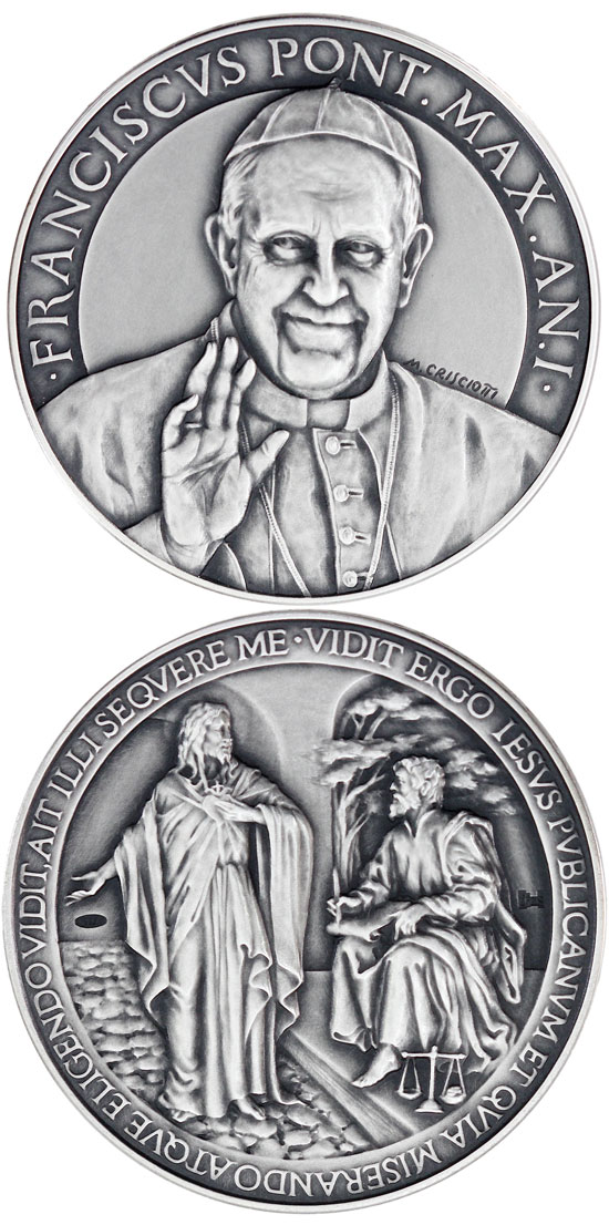 Pope Francis Anno I Silver Medal Photo
