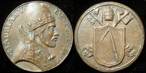 Hadrian V (1276) Cast Bronze Medal Photo