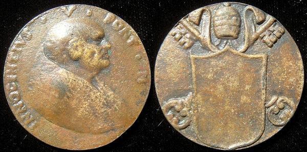 Innocent V (1276) Cast Bronze Medal Photo