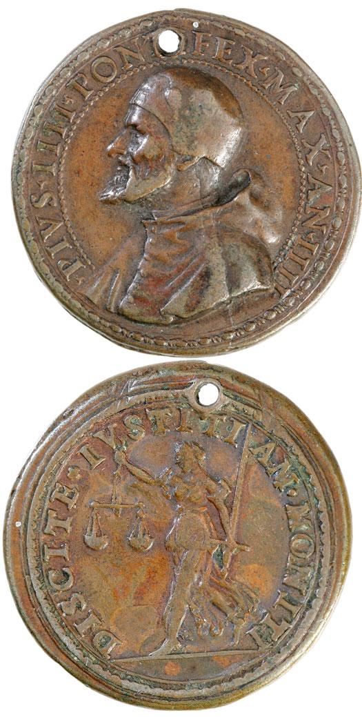 Pius IV (1559-65) Justice Medal - ORIGINAL Photo