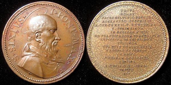 Sixtus I (116-25) Bronze Restitution Medal Photo