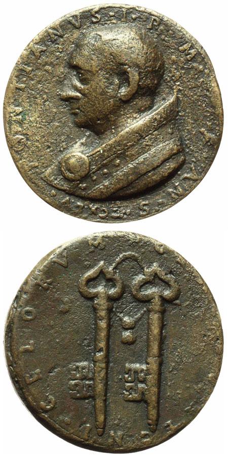 Pope St. Pontian (230-235) Medal, Keys of Heaven Photo