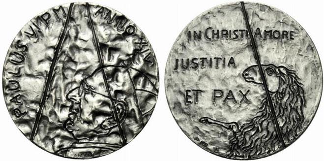 Paul VI (1963-78) Anno XIV Silver Medal Photo