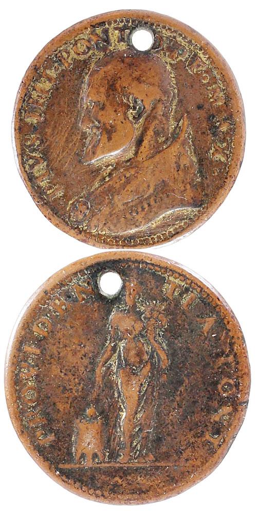 Pius IV (1559-65) Providence Medal - ORIGINAL Photo