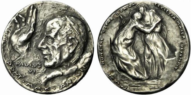Paul VI (1963-78) Anno VII Silver Medal Photo