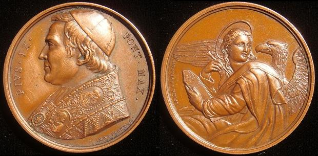 Pius IX Bronze St. John the Evangelist Photo