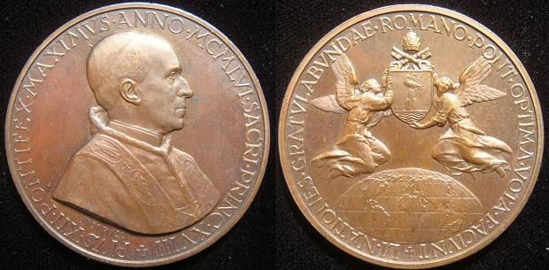 Pius XII 1956 Bronze Medal 80th Birthday Photo