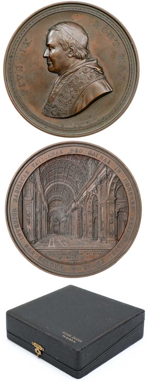 Pius IX 1869 Interior of St. Peter's 81mm Photo