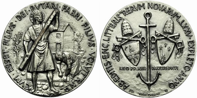 Paul VI 1966 Rerum Novarum Silver Medal Photo