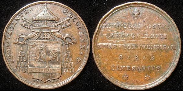 Sede Vacante 1830 Bronze Medal Photo