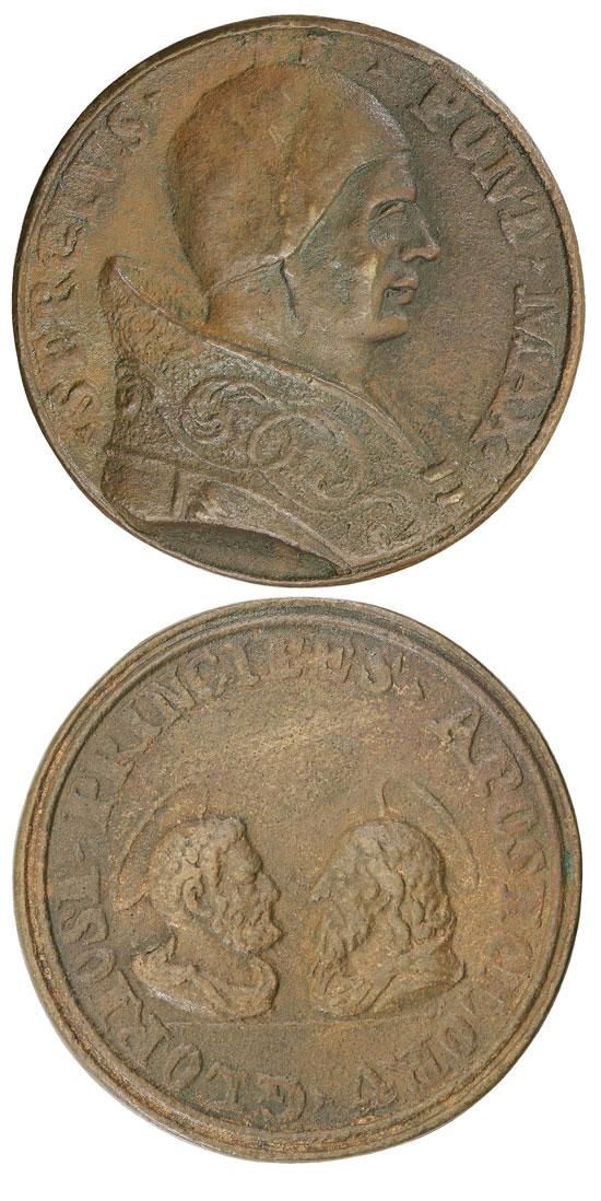 Sergius II (844-7) Cast Bronze Medal Photo