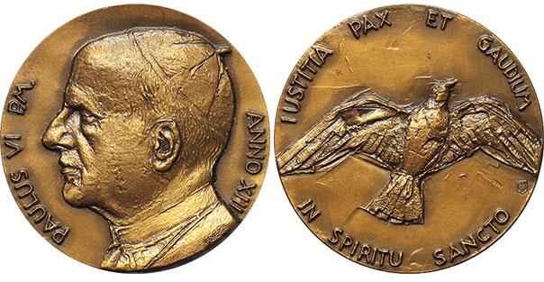 Paul VI (1963-78) Anno XIII Bronze Medal Photo