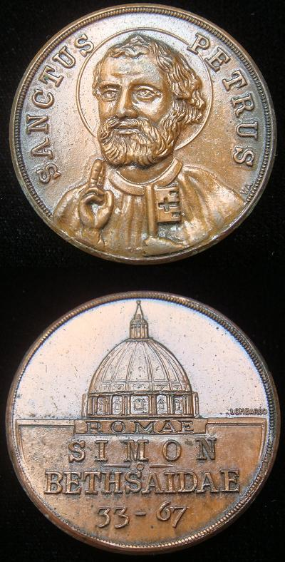 St. Peter (33-67) Bronze Medal c.1955 Photo