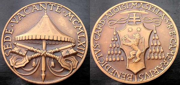 Sede Vacante 1963 Bronze Medal Photo