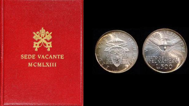 1963 Vatican 500 Lire Sede Vacante Coin B/U Photo