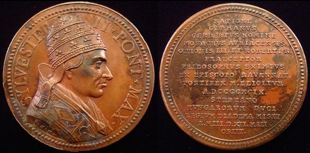 Silvester II (999-1003) C.G. Lauffer Medal Photo