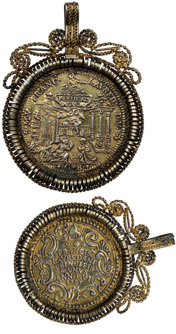 1757 Venice Osella Coin, Ark of the Covenant Photo
