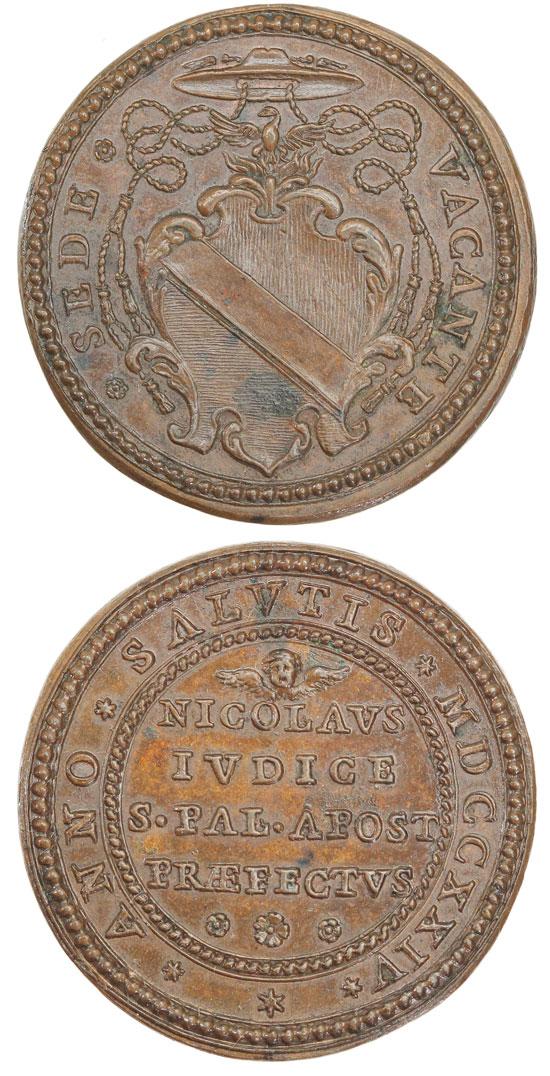 1724 Sede Vacante Bronze Medal Photo