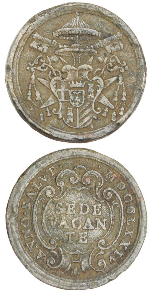Sede Vacante 1774-1775 Bronze Medal Photo