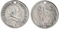 Alexander VIII 1689 Testone by Antonio Travani Thumbnail