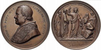 Pius IX 1869 First Vatican Council Medal 74mm Thumbnail