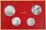 1950 Vatican Mint Coin Set, 4 Coins BU Thumbnail