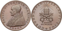 Paul VI 1963 Bronze Coronation Medal Thumbnail
