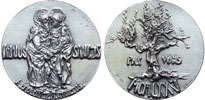 Paul VI Official 1975 Holy Year Silver Medal Thumbnail