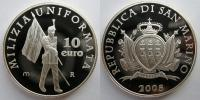 2005 San Marino 10 Euro Coin MILITIA Thumbnail