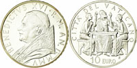 2005 Vatican 10 Euro Coin HOLY COMMUNION Thumbnail