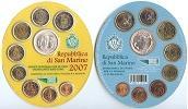 2007 San Marino Mint Set, 9 Euro Coins BU Thumbnail