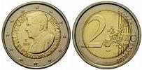 2007 Vatican 2 Euro Benedict XVI Coin Thumbnail
