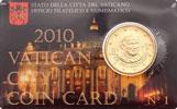 2010 Vatican Coin Card, 50 Eurocent Thumbnail