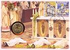 2010 Vatican 2 Euro Coin-Stamps Priests' Year Thumbnail