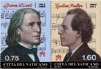 2011 Vatican Stamps: Franz Liszt & Gustav Mahler Thumbnail