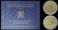 2014 Vatican 2 Euro Bimetal: Fall of Berlin Wall Thumbnail