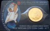 2016 Vatican Coin Card of Pope Francis Thumbnail