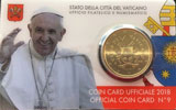 2018 Vatican Coin Card of Pope Francis Thumbnail
