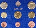 2007 Vatican Mint Set, 8 Euro Coins BU Thumbnail