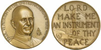 1965 Paul VI Bronze Peace Medal 64mm Thumbnail