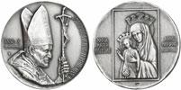 John Paul II Anno X Silver Medal MARIAN YEAR Thumbnail
