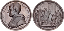 Leo XIII 1900 Opening Holy Door Ae Medal Thumbnail