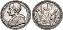 Leo XIII 1900 Opening Holy Door Silver Medal Thumbnail