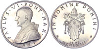 Paul VI (1963-78) Anno I Election Silver Medal Thumbnail